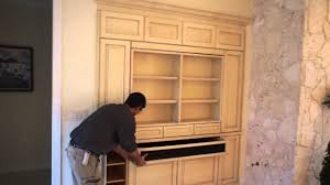 custom tv cabinet wall unit in naples fl 239 513 0089 youtube