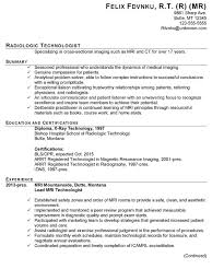 Radiologic Technologist Resume Sample Luxury Example For A Susan