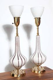 Rembrandt Floor Lamp Brass by 1950 U0027s Pair Of Rembrandt Atomic White Ceramic Brass And White