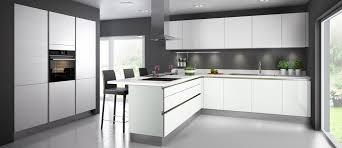 cuisine meubles blancs cuisine glossy diams couleur coton blanc brillant aussi remarquable