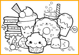1226x858 Kawaii Food Coloring Pages Unique Cute