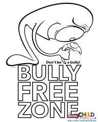 Printable No Bullying Coloring Sheets For Kids