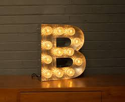 light up marquee bulb letters b by goodwin & goodwin