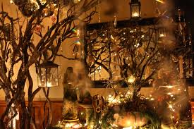 Enchanted Forest With Crystal Hanging