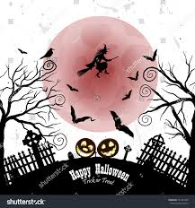 Halloween Cemetery Fence For Sale by Happy Halloween Greeting Card Elegant Design Stock Vector