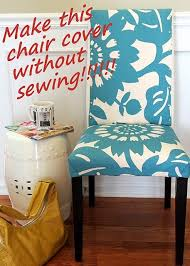 No Sew Cover Parsons Chair Would LOVE This In The Living Room At Our Desk Maybe A Mustard Yellow With Pattern Wish I Could Find It And That S