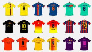 les maillots du fc barcelone sous l ère nike