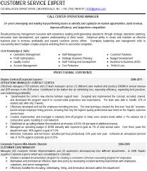 Call Center Operations Manager Resume Example Download Sample