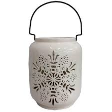 Halloween Luminary Bags Martha Stewart by Martha Stewart Living 8 In Candle Holder With White Snowflake