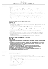 General Manager Special Projects Job Description Senior Project