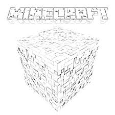 Coloring Online Minecraft Logo Page Kids