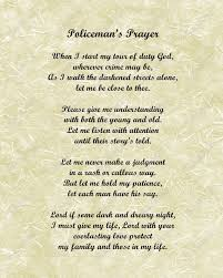 Items similar to A Police ficer s Prayer Poem for Policemen