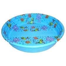 Kiddie Pool Hard Plastic With Built In Slide Kids Wading