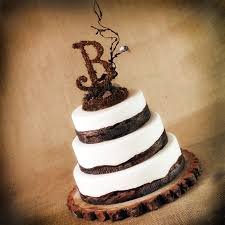 Image Detail For Our Rustic Wooden Monogram Cake Topper Is A Perfect Touch Your