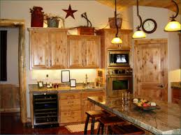 Kitchen Trendy Country Decor Themes Good Looking Light Brown Rectangle Rustic Wooden Ideas Varnished Design For With Boxes
