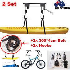 Kayak Hoist Ceiling Rack by Kayak Hoist Bike Lift Pulley System Garage Ceiling Storage Rack
