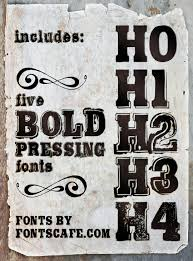 Bold Pressing Pack Fonts