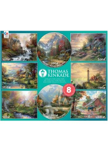Thomas Kinkade 8 in 1 Collector's Edition Puzzles - 3750 Pieces