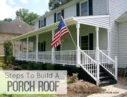 Attach Roof Over Deck From House Best Porch Roof Ideas Patio