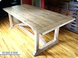 Dining Table Diy Rustic Plans Trestle Farmhouse With Regard To Remodel 11