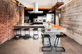 Rustic Industrial Wall Decor Kitchen With Exposed Wood Brick Loft Interior