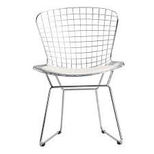 Mid Century Style Wire Dining Chair W/ White Cushion - AptDeco Dervish Wire Ding Chair Chrome Black Leatherette By Sohoconcept Design Chairs V Chair White Worldwide Shipping Livv Lifestyle Sohoconcept Chairs Bertoria Stool Top 2 Walmartcom Wedingchair 3d Model Ding Cgtrader Sohoconcept Eiffel 2bmod Gold Whosale Prices Apfniturecomau Metropolitandecor Wire Ding Chair Fair White Diamond Fmi1157white The Home Depot Frame Upholstered Platinum West Elm Uk