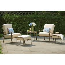 Pacific Bay Outdoor Furniture by Amazon Com Hampton Bay Cavasso Metal Outdoor Ottoman With Oatmeal