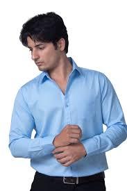 Buy Men s Cotton Plain Casual formal Shirt Light Blue line