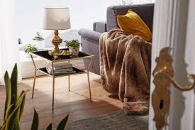 wohnling design couchtisch glas schwarz 50 x 50 cm 2 ebenen gold metallgestell wohnzimmertisch