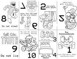 Ten Commandments God Gave Coloring Pages 15 Commandmentsminibook