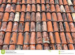 clay roof tiles stock image image of brown abstract