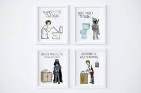 druckbare wars kinder badezimmer regeln waschen sie ihre hände satz 4 instant badezimmer druckbare badezimmer kunst kinder