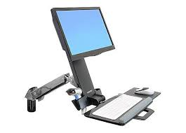 Ergotron Sit Stand Desk by Ergotron Styleview Wall Mount Sit Stand Combo Arm 45 266 026