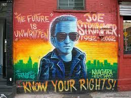 Joe Strummer Mural East Village by Les Graffiti 315 Bowery