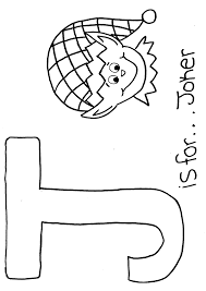 Free Alphabet Coloring Page Letter J
