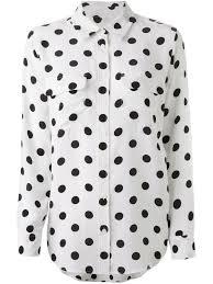 equipment polka dot shirt in black lyst