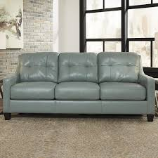 Signature Design By Ashley OKean Leather Sofa In Sky Nebraska