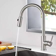 woohse wasserhahn küche ausziehbar edelstahl spültischarmatur küchenarmatur mit brause matt 360 drehbar armatur mischbatterie küche