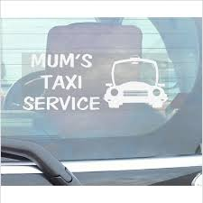 1 X Mums Taxi Service-Car Window Sticker-Fun Self Adhesive Vinyl ... I Love Sushi Window Bumper Vinyl Truck Decals Adult Funny Car Tips Universal Styling Sticker Auto For Windows Stickers Trucks 1pc Domo Made In Japan Barcode Pvc Slammed Ford Ranger Double Cab Decal Sticker 25 X 85 Hot Fuckit Die Cut 5 Product Gmc Motsports Windshield Topper Window Decal Boobs Focus Pinterest Windows Hard Hats And 3pcs Dope Vw Inspired Volkswagen For Drift Guys Design Decoration Ideas Stick Figure Family Jeep Cherokee Nobody Cares Skull Vinyl Car