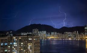 High Voltage Light Show Over Hong Kong On Saturday Night July 9 Photo Paul Yeung