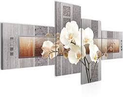 runa wandbild wohnzimmer blumen orchidee grau beige 4