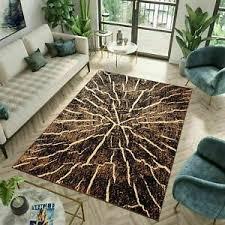 teppich kurzflor modern baumstamm design streifen wohnzimmer