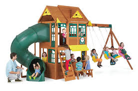 Big Backyard Premium Collection Summerlin Wood Swing Set - Toys