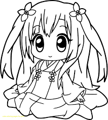 Cute Coloring Pages For Girls With Very Anime Girl Best Of