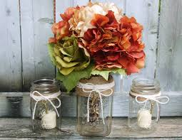Image Of Mason Jar Wedding Table Centerpieces