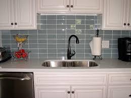 glass tile backsplash blue glass tile backsplash for kitchen