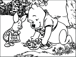 Best Friends Playing In Forest The Pooh Coloring Page Free Printable Winnie Halloween Pages Baby Colouring