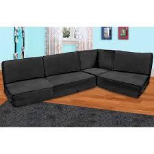 big joe zip modular sofa stretch limo black hayneedle