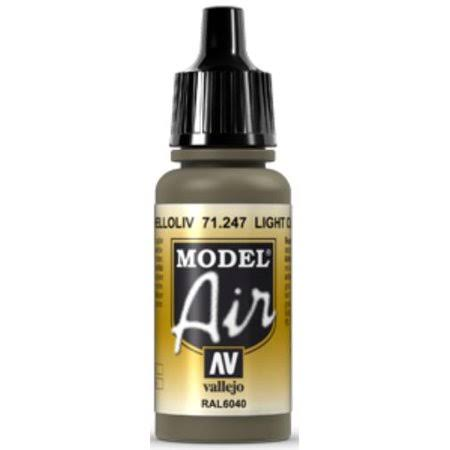 Vallejo Model Air Acrylic Paint - Light Olive, 17ml