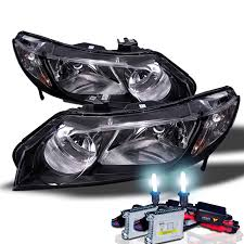 hid xenon 06 11 honda civic 4 door sedan fd headlights